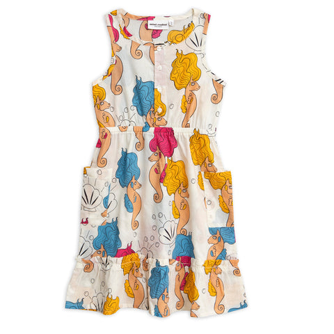 Seahorse Flounce Dress by Mini Rodini