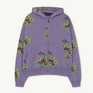 Seahorse Kids Sweatshirt in Purple Flowers by The Animals Observatory