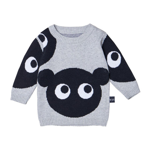 Shadow Bear Knit Sweater by Huxbaby