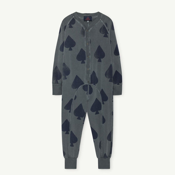 Sloth Kids Pyjamas in Grey Spades by The Animals Observatory