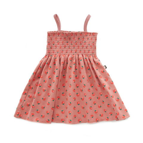 Smock Dress in Tomato Print by Oeuf