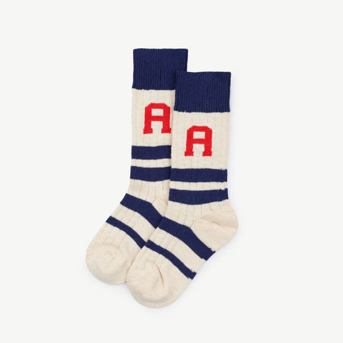 Snake Kids Socks in Navy Blue by The Animals Observatory