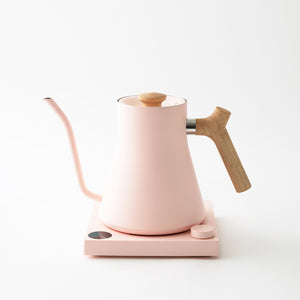 Stagg EKG Warm Pink / Maple Electric Kettle by Fellow