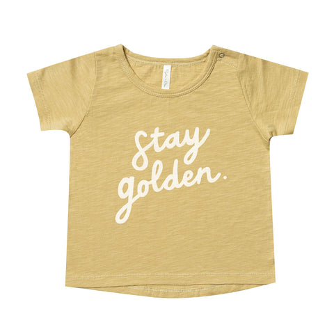 Stay Golden Basic Tee by Rylee and Cru