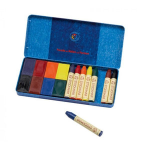 Load image into Gallery viewer, Stockmar Wax Crayons Combo Standard Tin Case - 8 Blocks & 8 Sticks