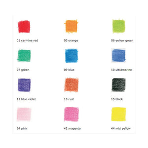 Stockmar Colored Pencils Hexagonal Assortment 12+1