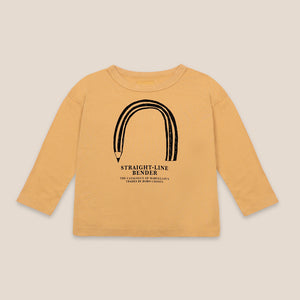 Straight Line Bender Long Sleeve T-shirt by Bobo Choses
