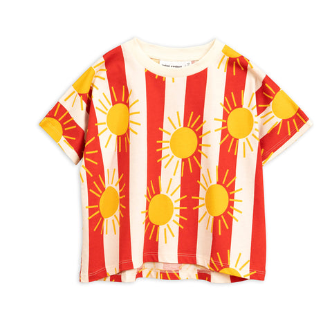 Sun Stripe Tee by Mini Rodini