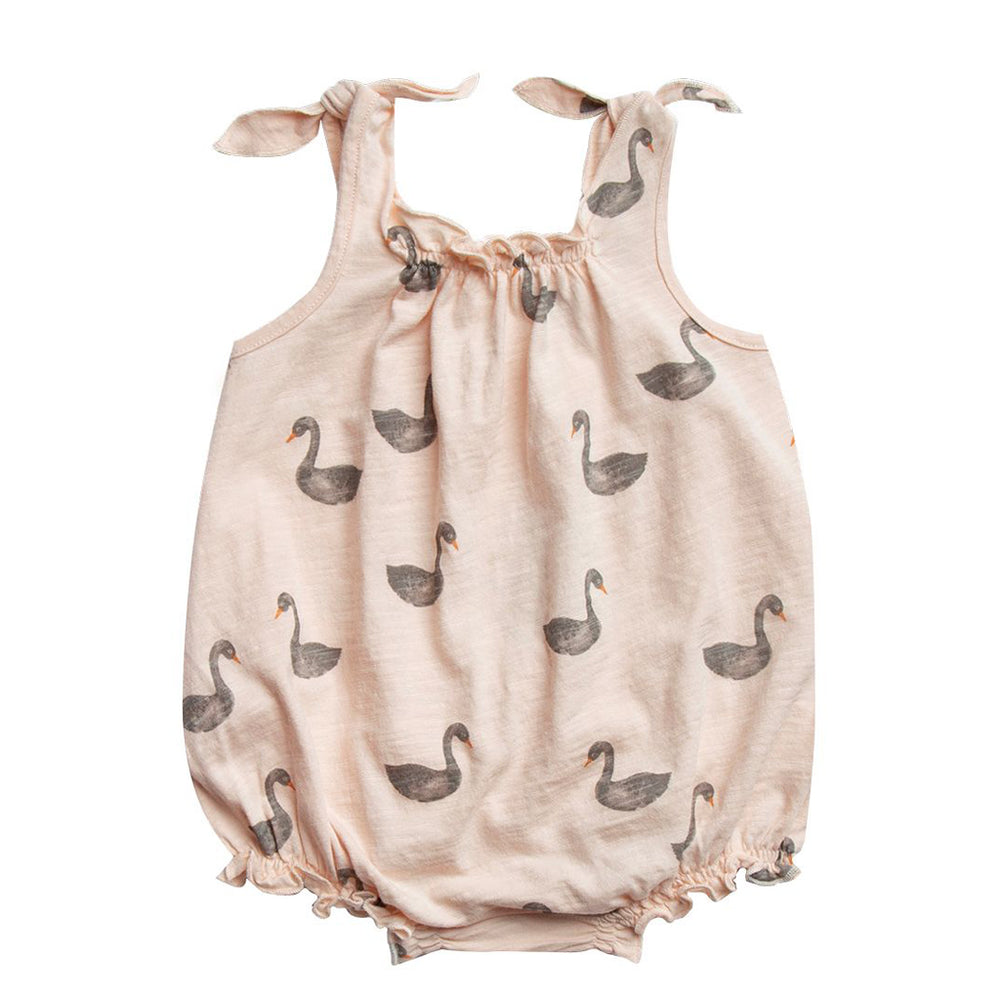 Swans Shoulder Tie Onesie by Rylee and Cru