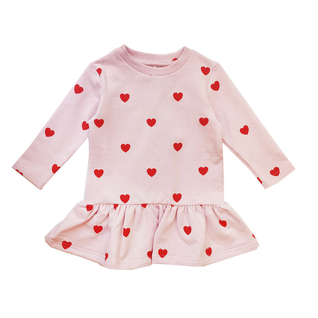 Red Hearts Sweater Dress by Kip and Co x Hugo Loves Tiki