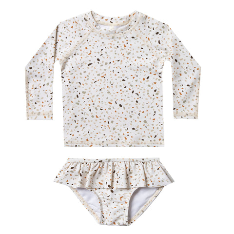 Terrazzo Rash Guard Set by Rylee and Cru