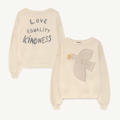 Bear Kids Sweatshirt in Peace Dove by The Animals Observatory