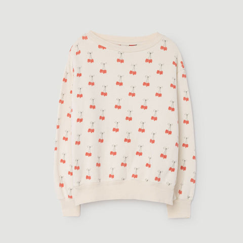 Bear Kids Sweatshirt in Cherries by The Animals Observatory