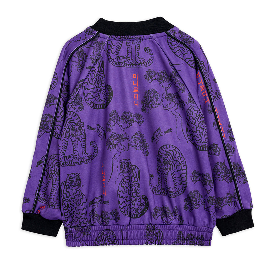 Purple Tigers Track Jacket by Mini Rodini
