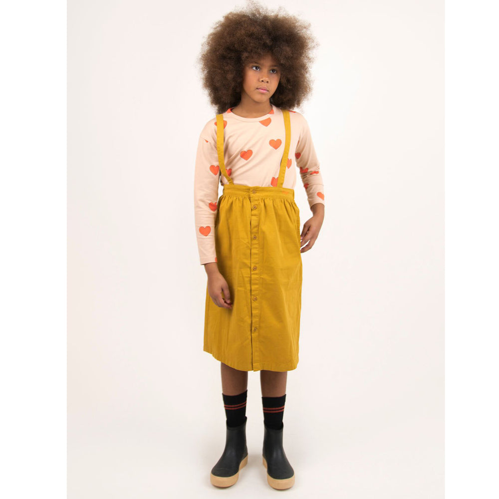 Load image into Gallery viewer, Solid Braces Midi Skirt by Tinycottons