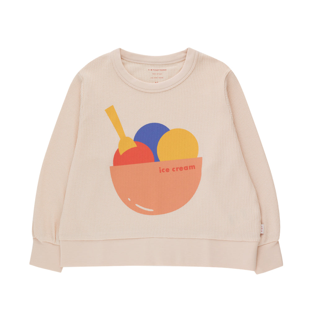 Load image into Gallery viewer, Ice Cream Waffle Sweatshirt by Tinycottons