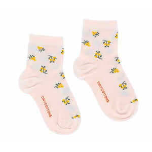 Kid Tiny Flowers Quarter Socks by Tinycottons