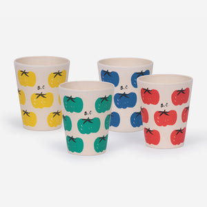 Tomatoes Pack of Bamboo Glasses by Bobo Choses