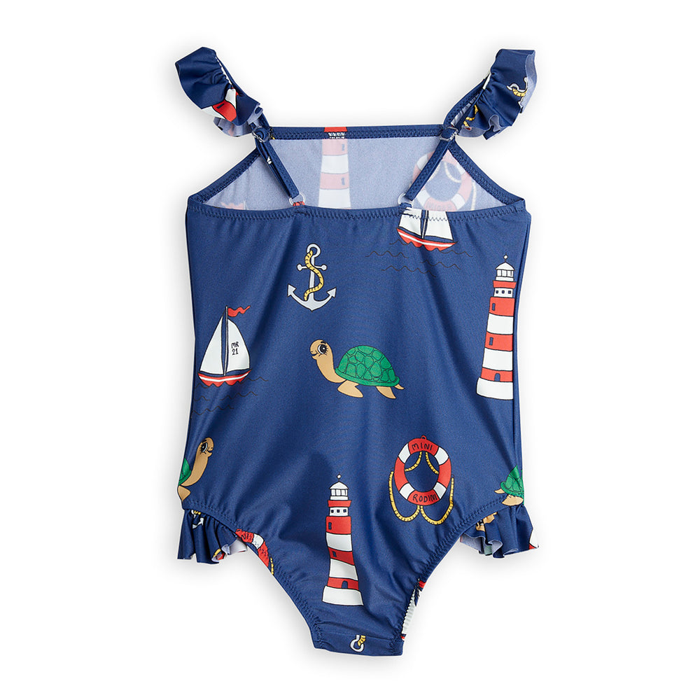 Turtle Float Wing UV Swimsuit by Mini Rodini