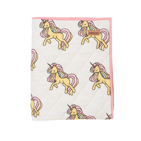Unicorn Quilted Crib Comforter by Kip and Co