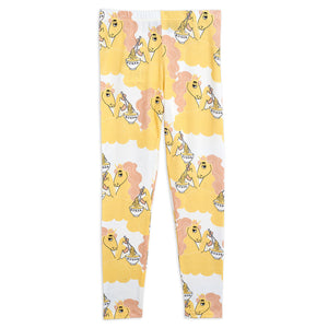 Load image into Gallery viewer, Yellow Unicorn Noodles Leggings by Mini Rodini