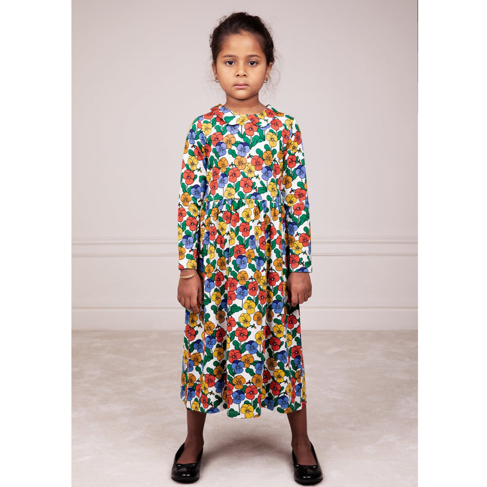 Violas Long Sleeve Collar Dress by Mini Rodini
