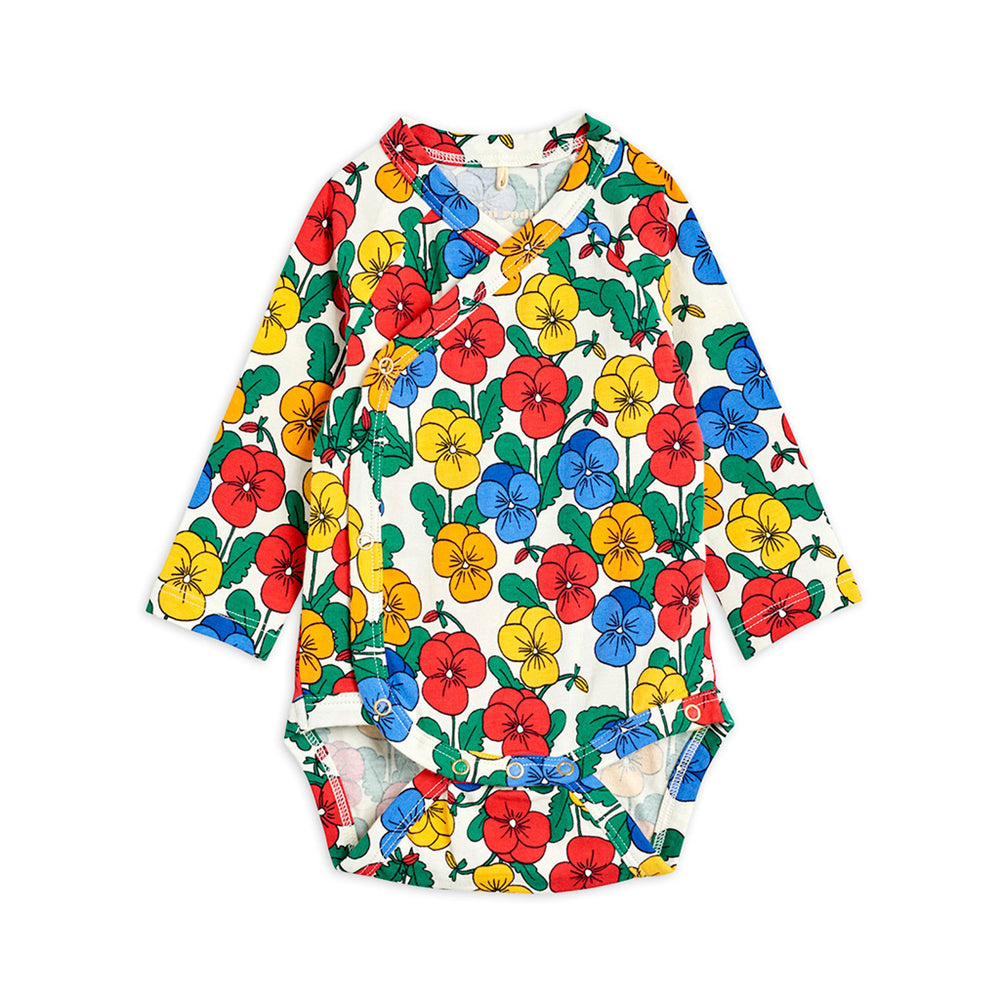 Violas Wrap Bodysuit by Mini Rodini