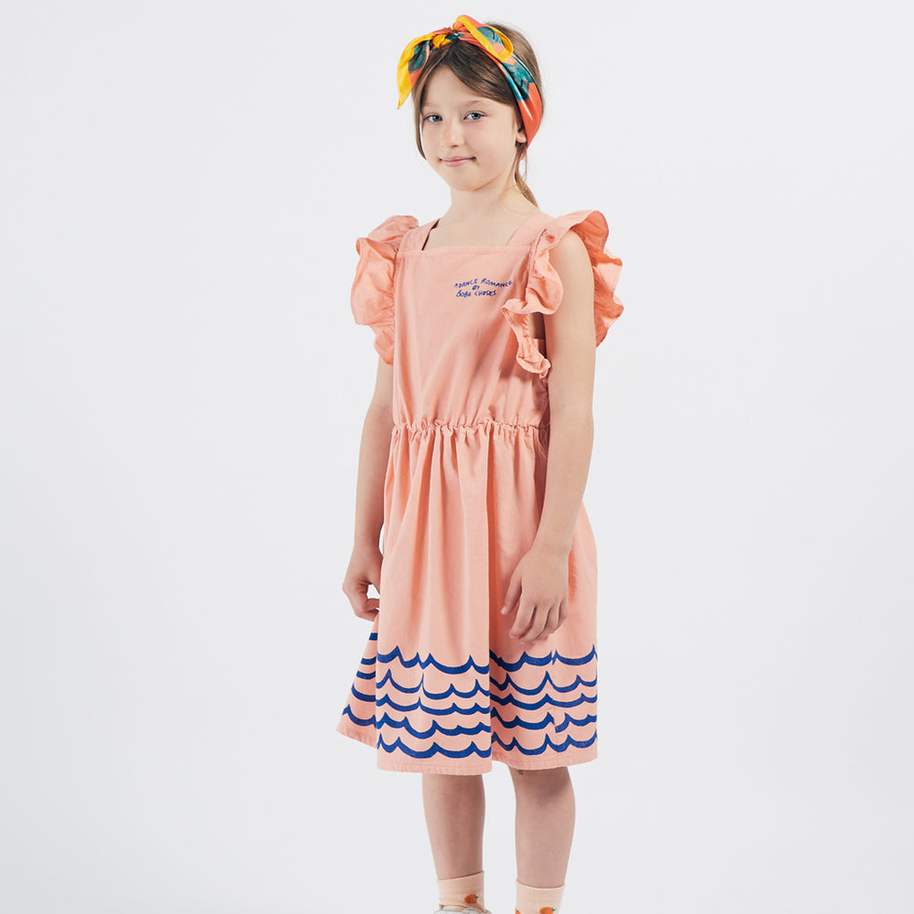 Waves Ruffle Dress by Bobo Choses