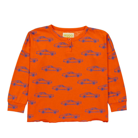 Cars Henley Wide Tee by Hugo Loves Tiki