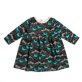 wild horses mint baby dress winter water factory