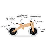 3 in 1 Original Bike in Natural by Wishbone