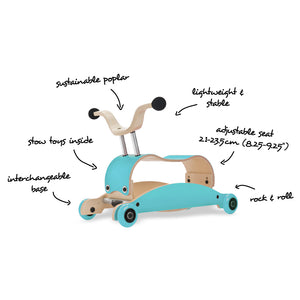 Mini Flip 4 in 1 Walker by Wishbone- Multiple Colors