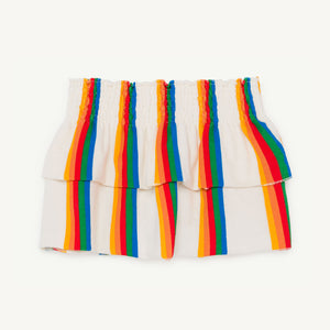 Wombat Kids Skirt in Rainbow by The Animals Observatory