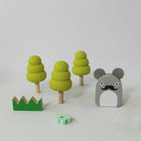 Wooden Ricetown Playset by Noodoll and Kiko+