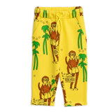 Yellow Cool Monkey Sweatpants by Mini Rodini