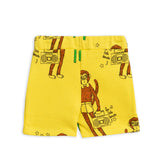 Cool Monkey Yellow Sweatshorts by Mini Rodini