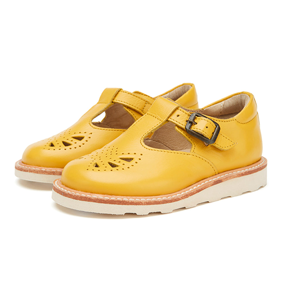 Rosie T-bar Yellow by Young Soles