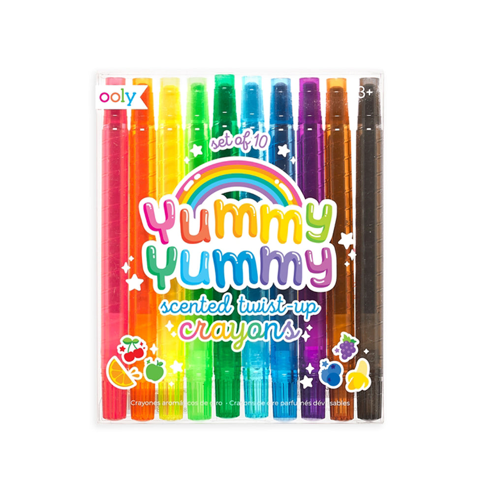 Yummy Yummy Scented Twist-Up Crayons - Set of 10 by Ooly