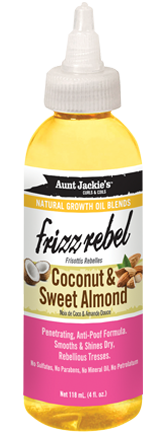 Aunt Jackie's Frizz Rebel Coconut & Sweet Almond Growth Oil 4 oz