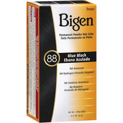 Bigen Permanent Powder Hair Color, 88 Blue Black