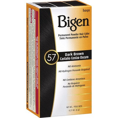 Bigen Permanent Powder Hair Color, 57 Dark Brown