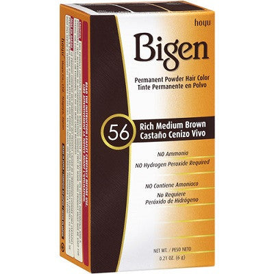 Bigen Permanent Powder Hair Color, Rich Medium Brown 56