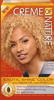 Creme of Nature Exotic Shine Hair Color WITH ARGAN OIL Ginger Blonde 10.01