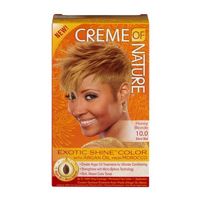 Creme Of Nature Exotic Shine-Color with Argan Oil 10.0 Honey Blonde