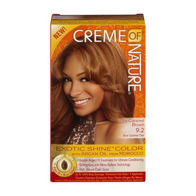 Creme Of Nature Exotic Shine-Color with Argan Oil 9.2 Light Caramel Brown