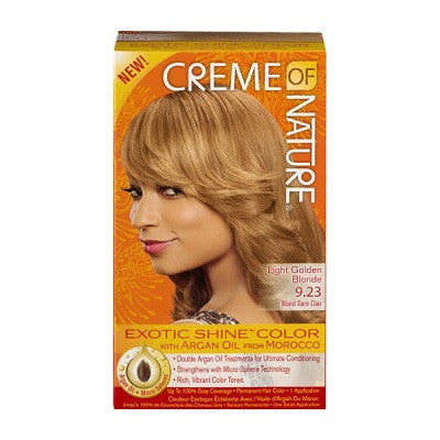 Creme Of Nature Exotic Shine-Color with Argan Oil 9.23 Light Golden Blonde