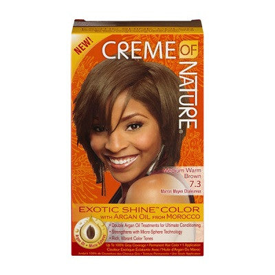 Creme Of Nature Exotic Shine-Color with Argan Oil 7.3 Medium Warm Brown