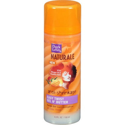 Dark and Lovely Au Naturale Anti-Shrinkage Easy Twist Gel N' BUtter 5 oz