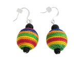 Vibrant Multicolored Beaded Earrings