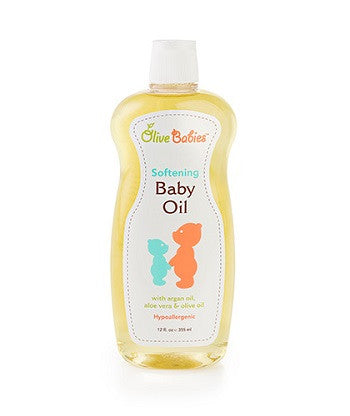 olive babies Softening Baby Oil 12 oz